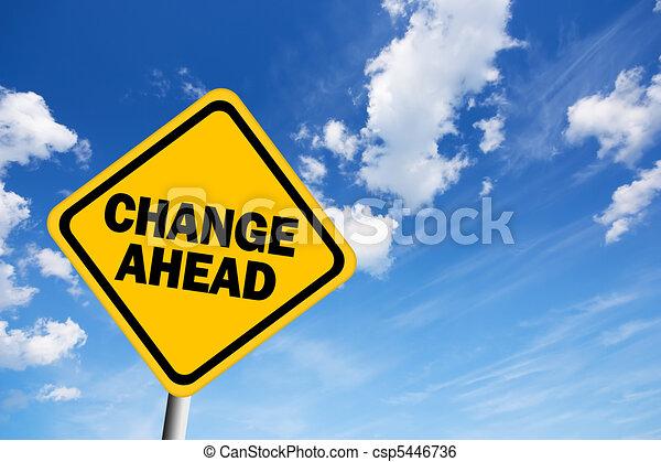 Change ahead warning sign - csp5446736