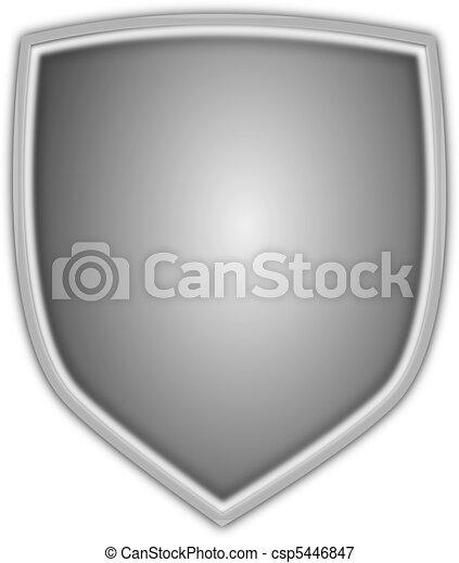 Silver Vector Shield - csp5446847