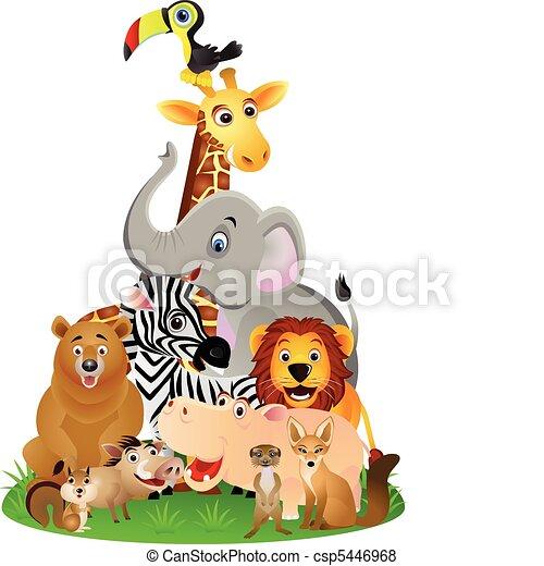 animal cartoon - csp5446968