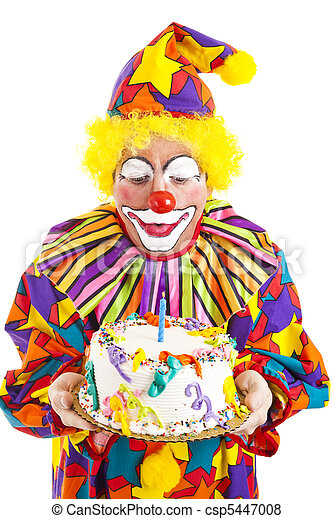 images de bougie coups anniversaire clown rigolote clown coups csp5447008. Black Bedroom Furniture Sets. Home Design Ideas