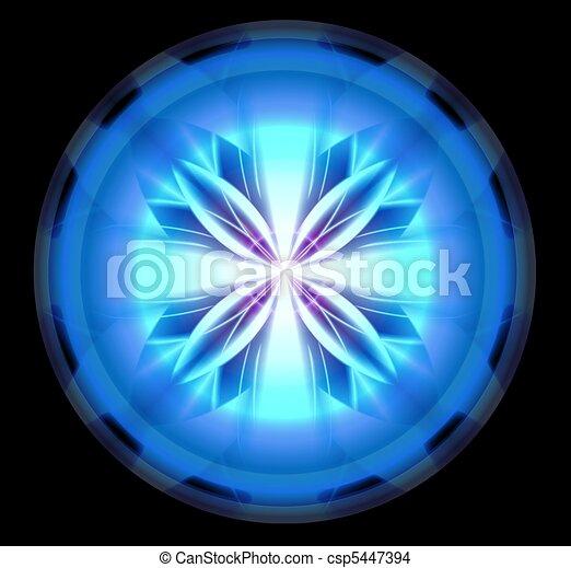 Blue Scifi Tech Orb - csp5447394