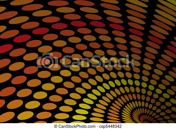 Yellow and orange doted endless ba - csp5448342