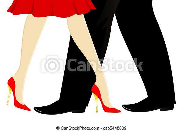 womanish and masculine legs - csp5448809