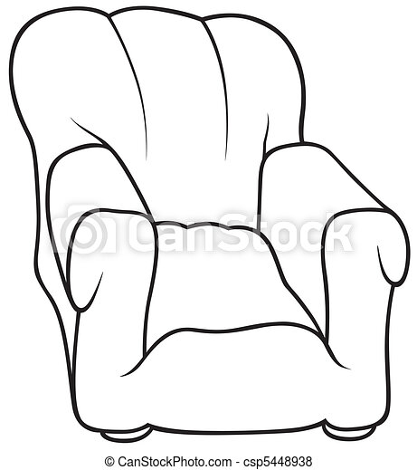 vecteur de fauteuil noir et blanc dessin anim233