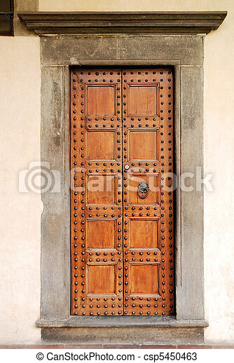 Old door Florence - csp5450463