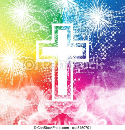 Fireworks Cross - csp5450701