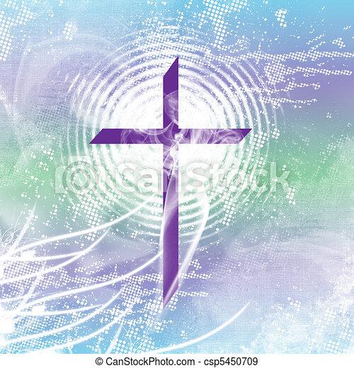 Purple Smoking Cross - csp5450709