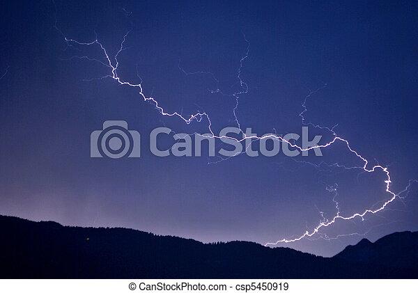 lightning in the night sky - csp5450919