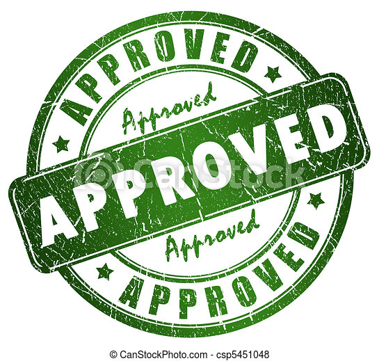 Approved stamp - csp5451048