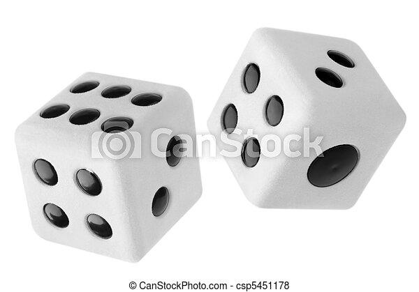 Gambling dices - csp5451178