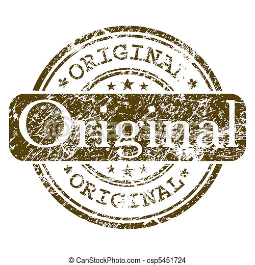 Office rubber stamp - Original. EPS 8 - csp5451724