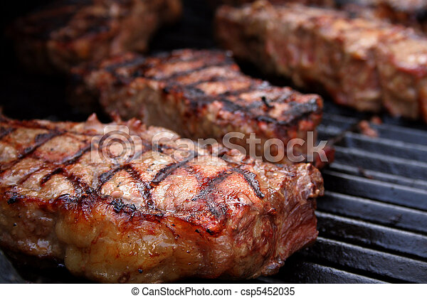 Barbecued Steaks - csp5452035