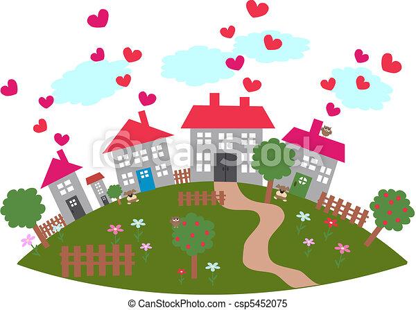 friendly town - csp5452075