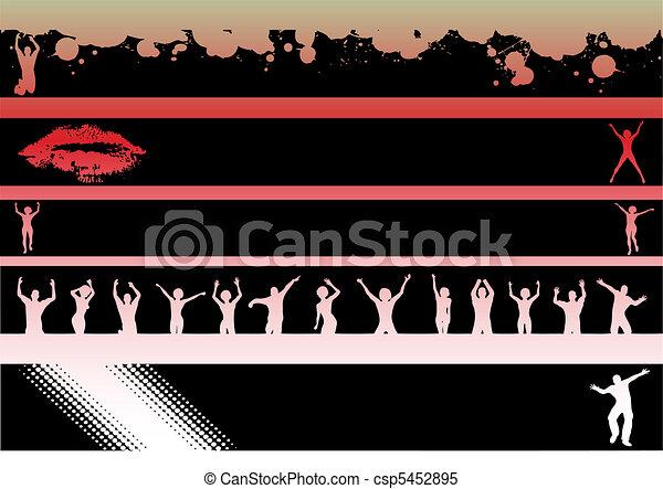 Landscape Graphic Strips Dancers - csp5452895