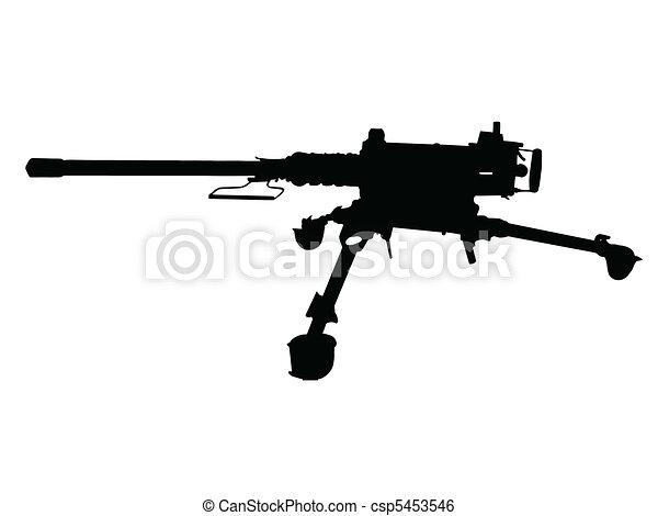 eps vectors of browning machine gun vector csp5916759 - search