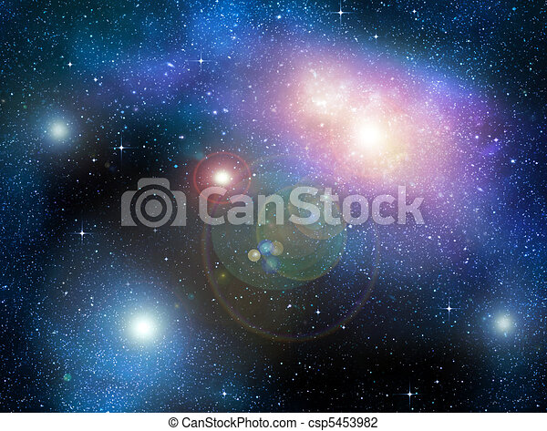 starry deep outer space nebual and galaxy - csp5453982