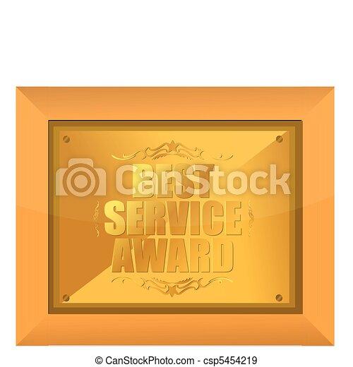 best service award - csp5454219