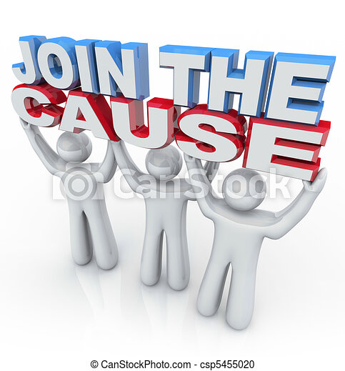 Join the Cause - People Holding Words - csp5455020