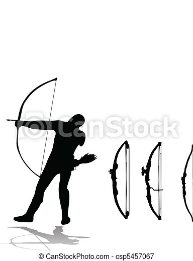 archer and set of bows - csp5457067