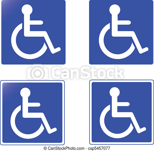 collection of handicap signs vect - csp5457077