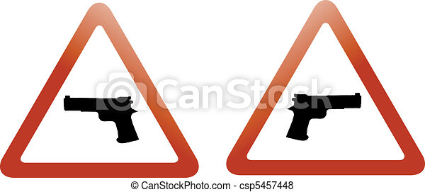 gun zone signs - csp5457448