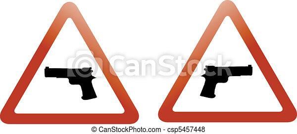 gun zone signs - csp5457448
