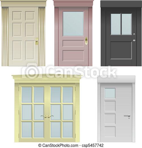 Five doors - csp5457742