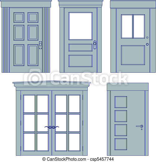 Door blueprints - csp5457744