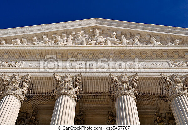 United States Supreme Court Pillars - csp5457767