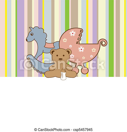 Baby shower card - csp5457945