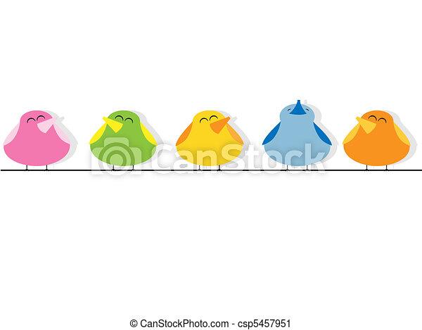 Birds Singing Clip Art