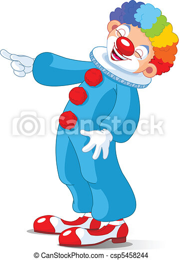 Cute Clown laughing - csp5458244