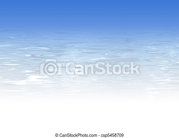 Blue crystal clear water background - csp5458709