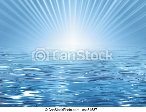 Abstract sunny beach background - csp5458711
