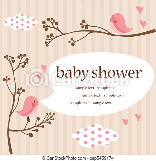baby girl shower - csp5459174