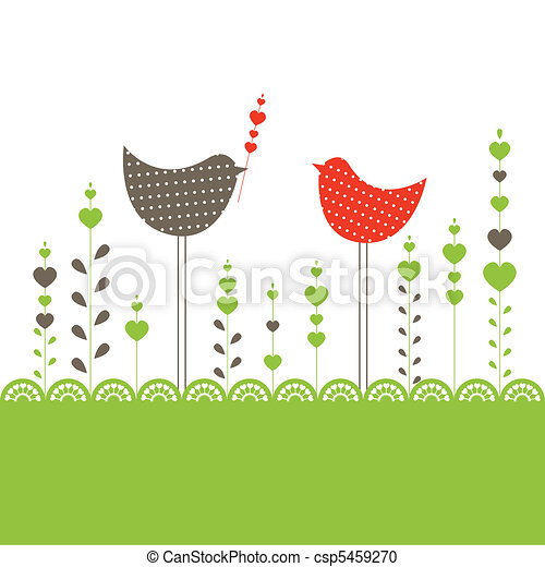 Background with birds. Vector illustration - csp5459270