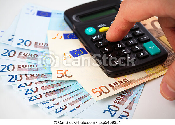 Calculator and money - accounting concept - csp5459351