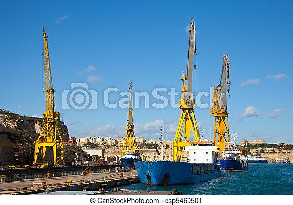 muelle seco, barcos - csp5460501