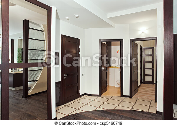 Photo moderne salle int rieur beaucoup bois dur for Taille porte interieur
