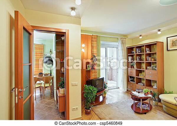 Stock fotografieken van interieur huiskamer keuken for Interieur huiskamer