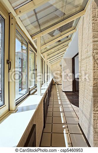 Long balcony (gallery) interior - csp5460953