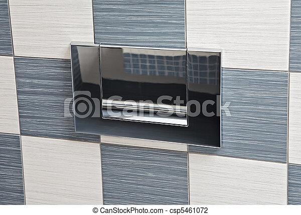 Modern metal toilet lever - csp5461072