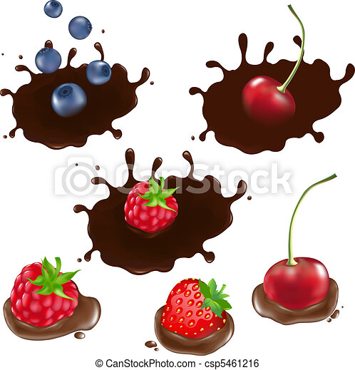 Berry In Chocolate - csp5461216