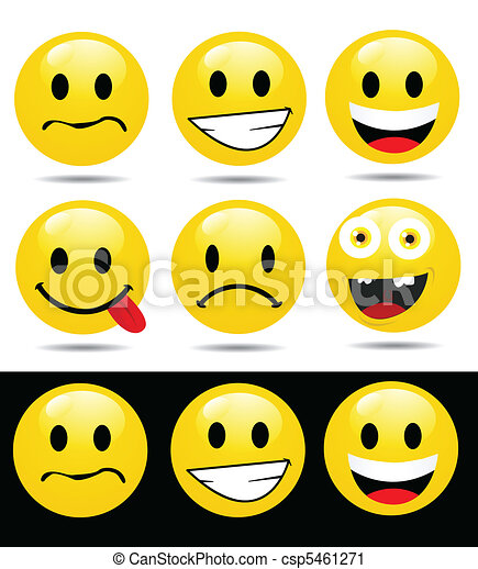 characters of yellow emoticons - csp5461271
