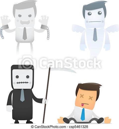 set of funny cartoon manager - csp5461328