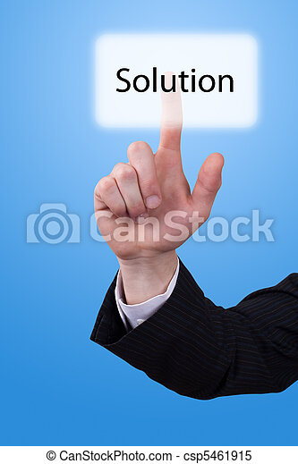 hand push on solution button - csp5461915