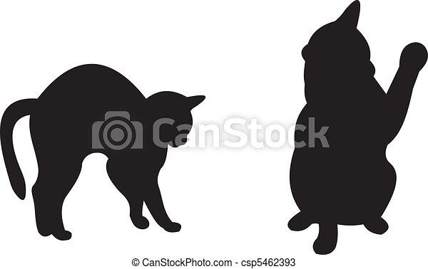Cat vector - csp5462393