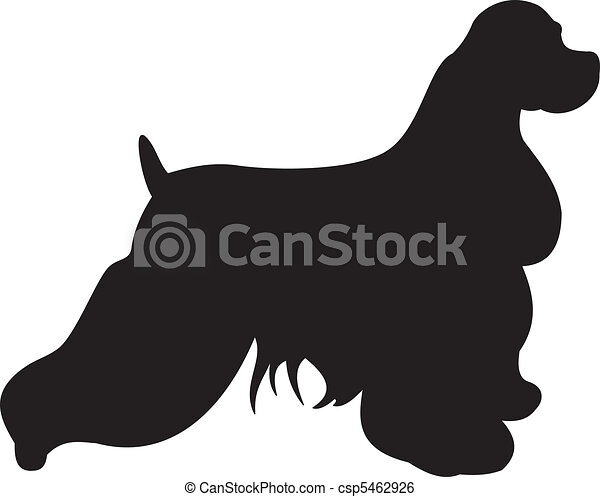 Dog silhouette vector - csp5462926