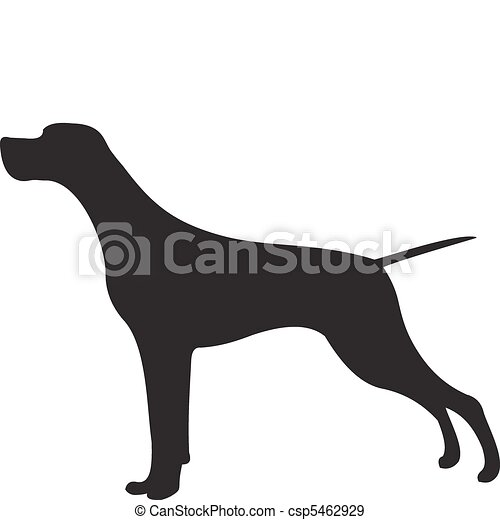 Dog silhouette vector - csp5462929