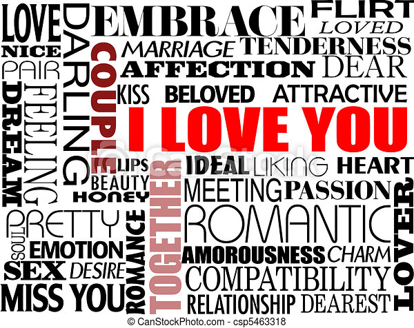 various love words - csp5463318